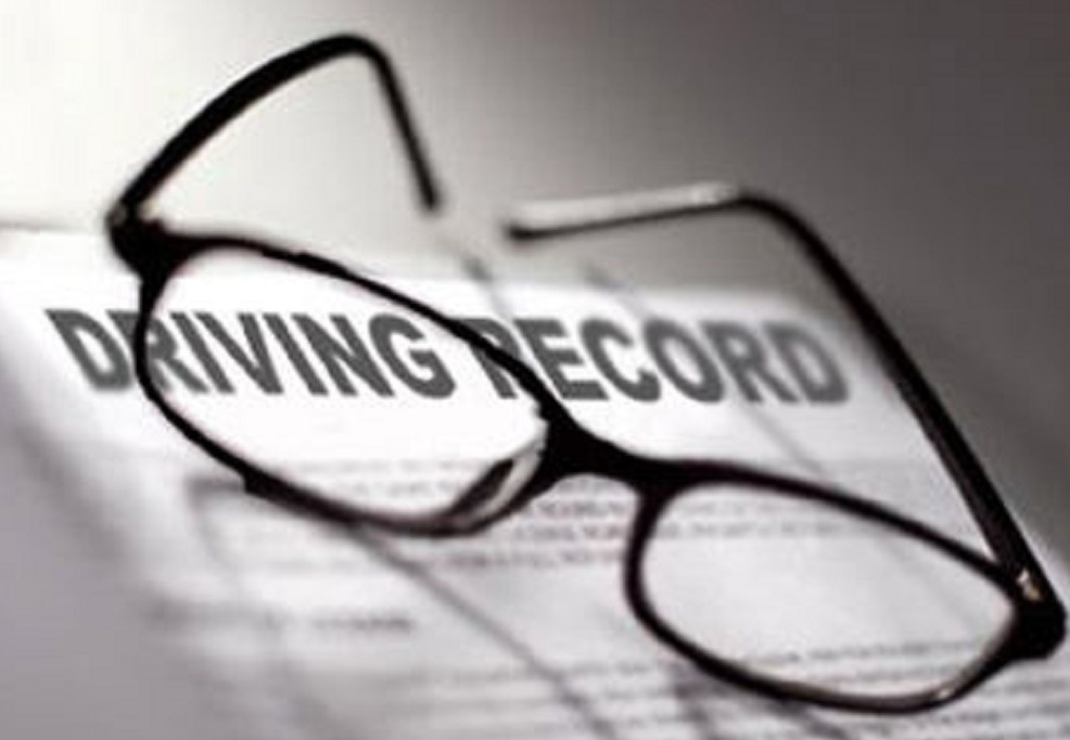 points on driving record