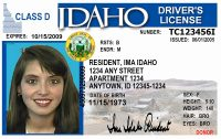 Idaho Drivers license