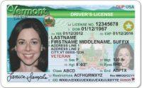 Vermont Drivers license