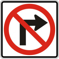 white road signs