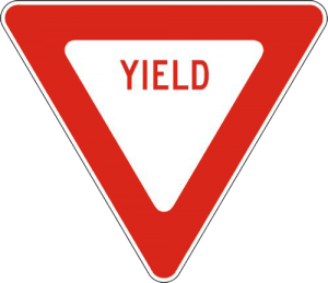 triangle road sign