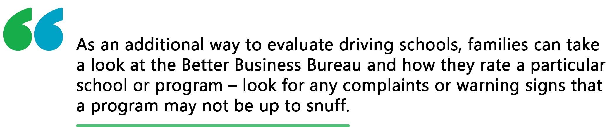evaluating driving schools quote