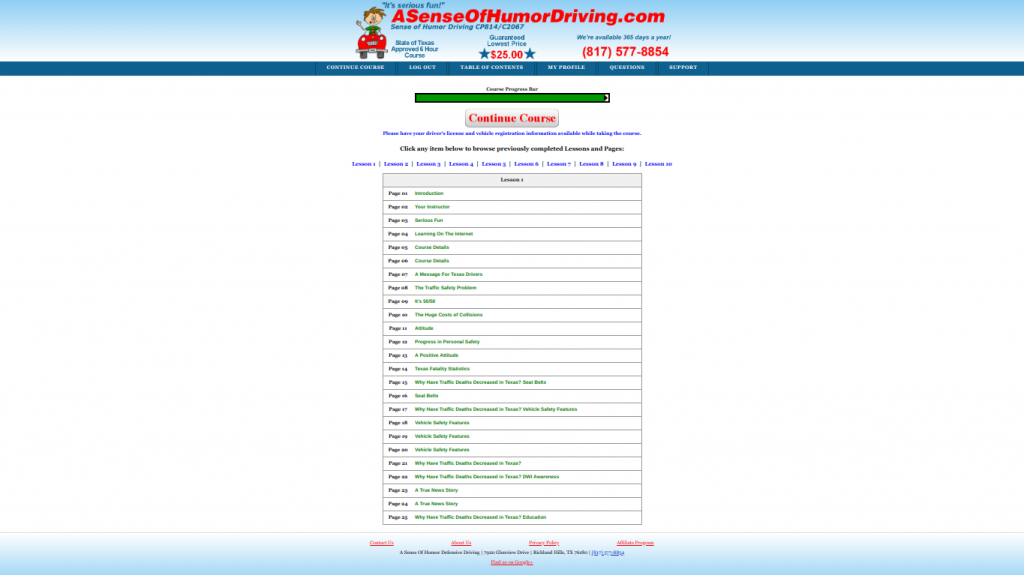 sense of humor defensive driving review