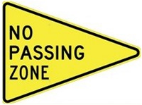 pennant sign means no passing